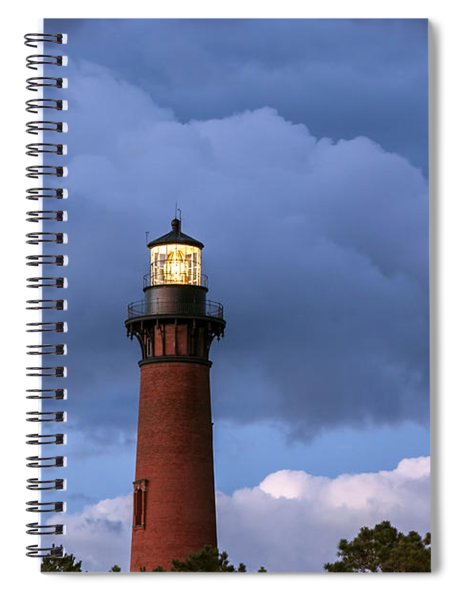Storm Looms Near Currituck Beach Lighthouse Spiral Notebook