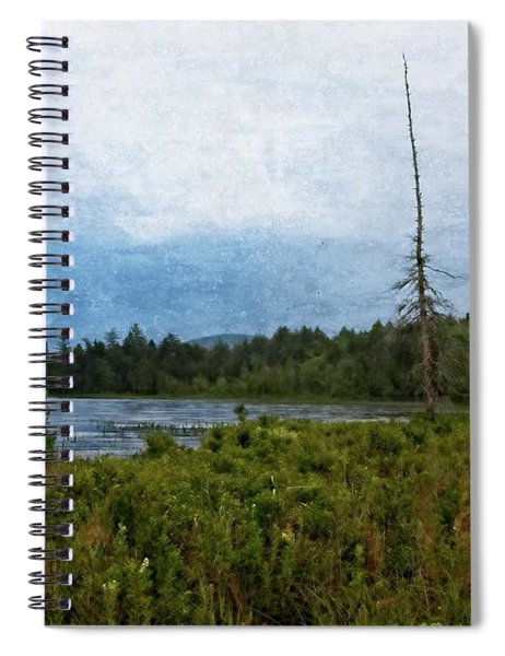 Storm On Raquette Lake Spiral Notebook