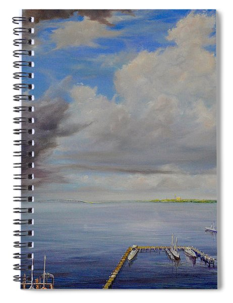 Storm On The Indian River Spiral Notebook