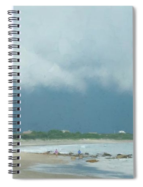 Storm Over Goosewing Spiral Notebook