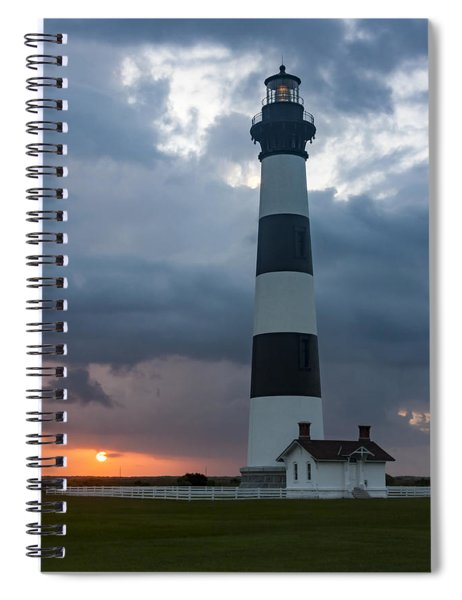 Storm Passes Bodie Island Lighthouse Spiral Notebook