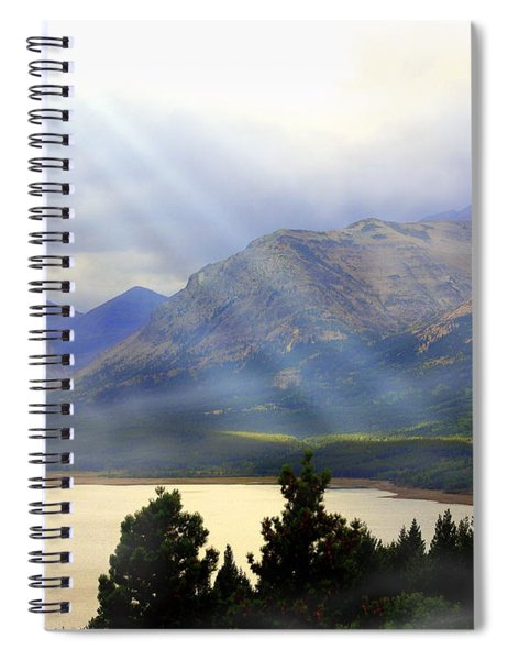Storms A Coming-lower Two Medicine Lake Spiral Notebook