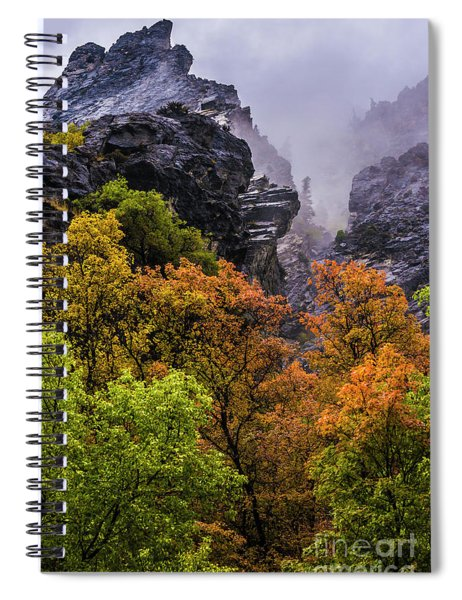 Stormy American Fork Canyon - Wasatch - Utah Spiral Notebook