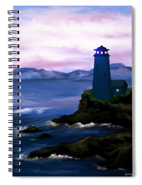Stormy Blue Night Spiral Notebook