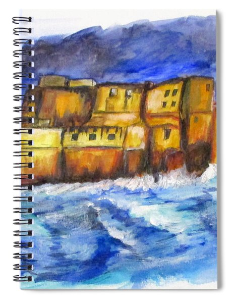 Stormy Castle Dell'ovo, Napoli Spiral Notebook