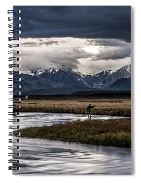 Stormy Day Of Fishing Spiral Notebook