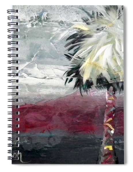 Stormy Horizons Palm Tree Spiral Notebook