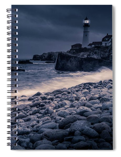 Spiral Notebook featuring the photograph Stormy Lighthouse 2 by Doug Camara
