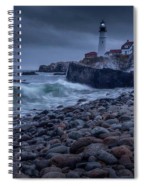Stormy Lighthouse Spiral Notebook