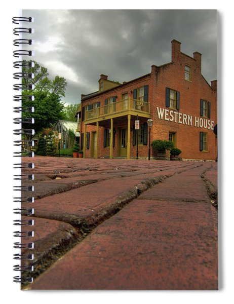 Stormy Morning On Main Street Spiral Notebook