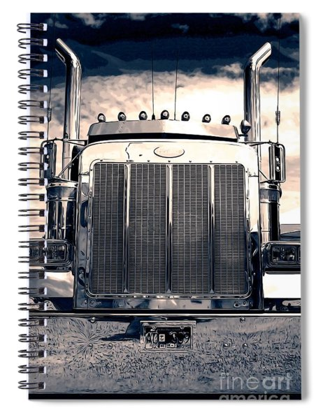 Stormy Night Peterbilt Spiral Notebook
