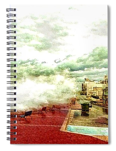 Stormy Sea Spiral Notebook