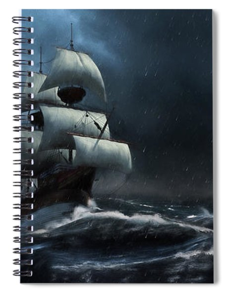 Stormy Seas - Nautical Art Spiral Notebook