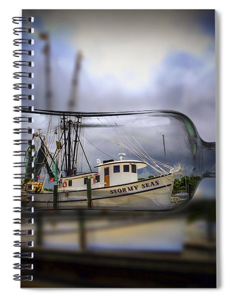 Stormy Seas - Ship In A Bottle Spiral Notebook
