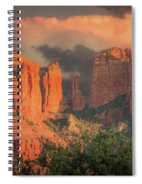 Stormy Sedona Sunset Spiral Notebook