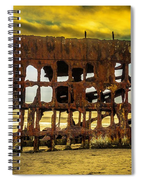 Stormy Shipwreck Spiral Notebook