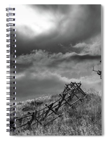 Stormy Sky At The Ranch Spiral Notebook