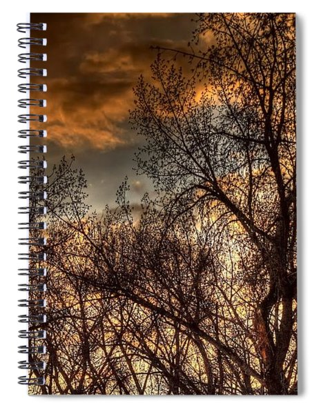 Stormy Sunset 14151 Spiral Notebook