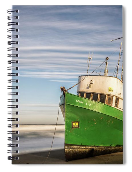 Stranded On The Beach Spiral Notebook