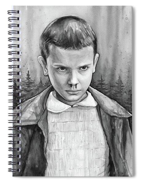 Stranger Things Fan Art Eleven Spiral Notebook
