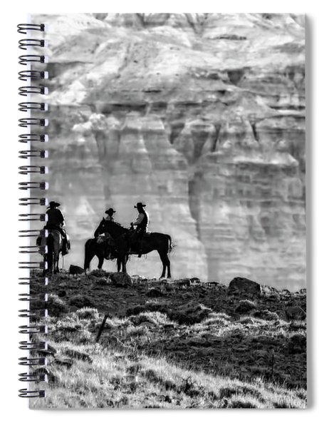 Strategy Meeting In Black And White Spiral Notebook