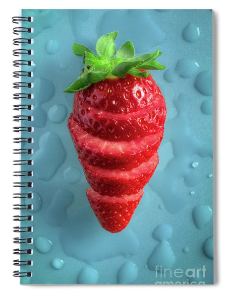 Strawberry Fresh Sliced Spiral Notebook