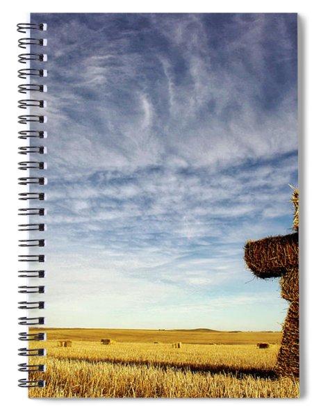 Strawman On The Prairies Spiral Notebook