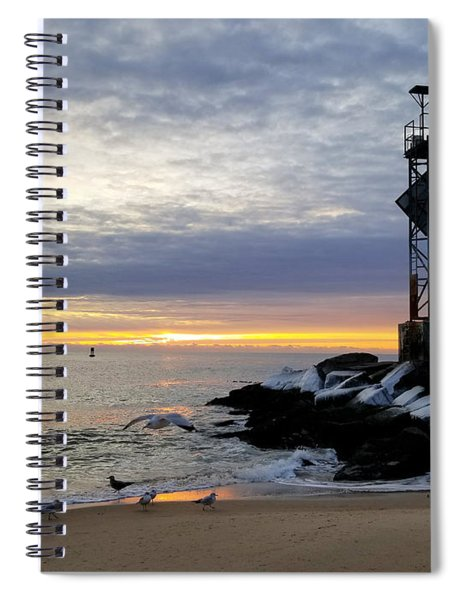 Streak Of Sunrise Spiral Notebook
