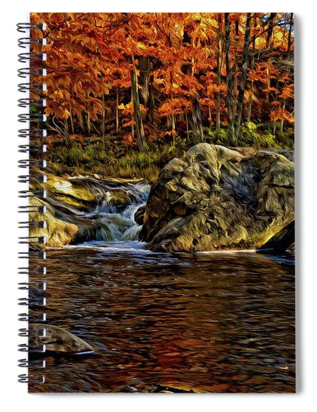 Stream In Autumn 57 In Oil Spiral Notebook