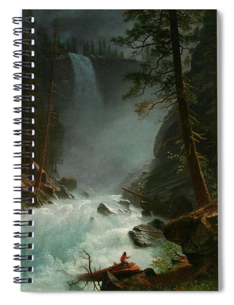 Stream In The Rocky Mountains Spiral Notebook