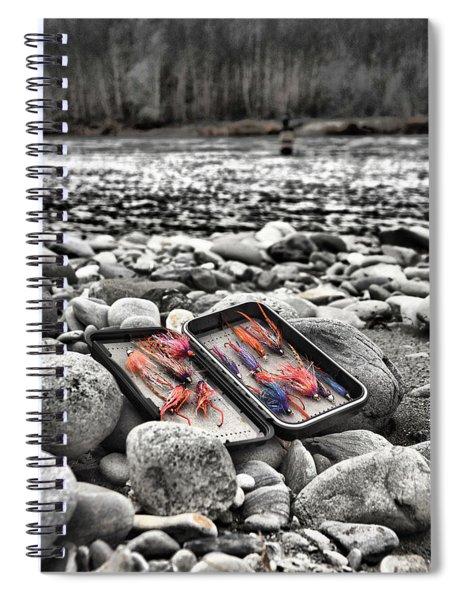 Stream Side Fly Box Spiral Notebook