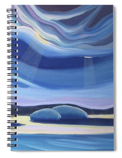 Streaming Light II Spiral Notebook