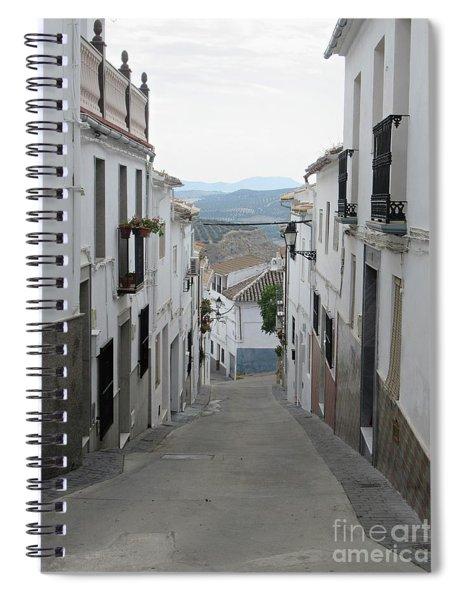 Street In Iznajar Spiral Notebook