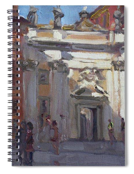 Street Musicians Pzza San Silvestri Rome Spiral Notebook