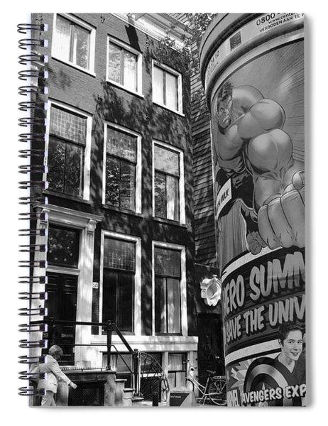 Street Scene Amsterdam Spiral Notebook