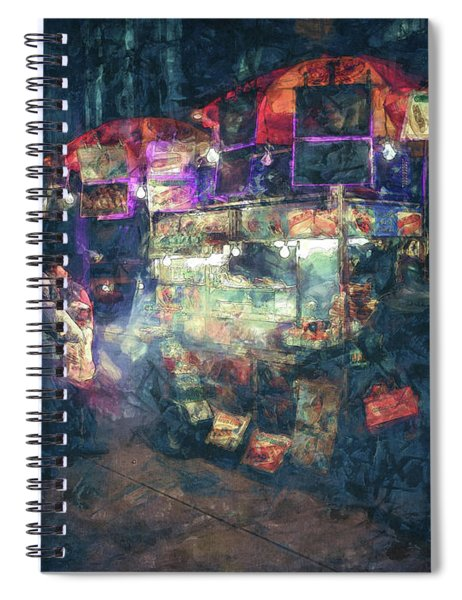 Street Vendor Food Stand Spiral Notebook