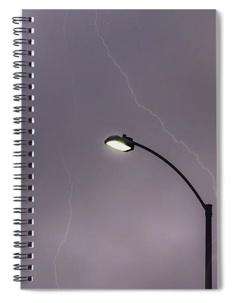 Spiral Notebook featuring the photograph Streetlight by Alison Frank