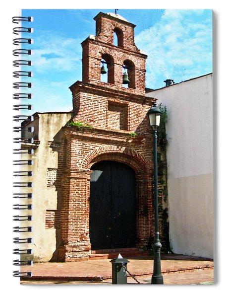Streetlight Bells And Cross Spiral Notebook