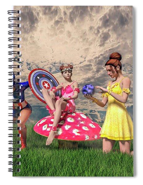 Strike A Pose Betsy C Knapp Spiral Notebook