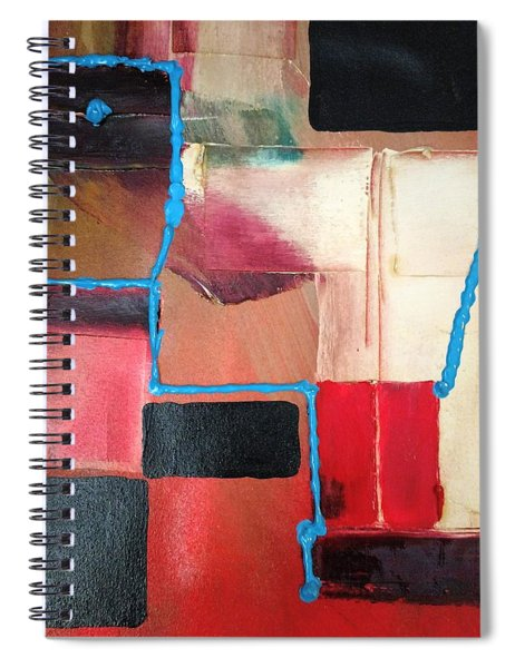 String Theory Abstraction Spiral Notebook