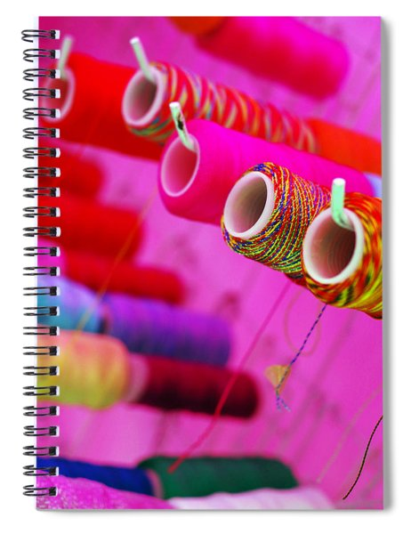 Spiral Notebook featuring the photograph String Theory by Skip Hunt