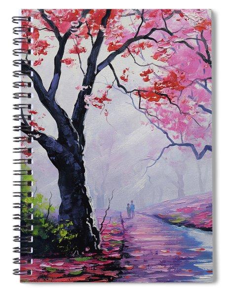 Stroll In The Mist Spiral Notebook