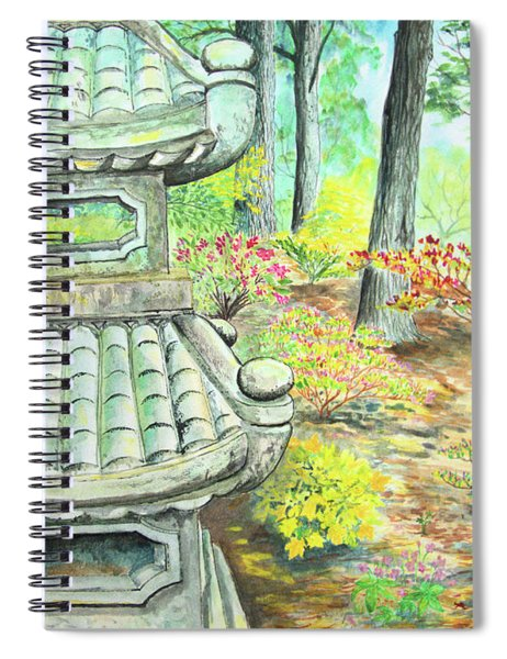 Strolling Through The Japanese Garden Spiral Notebook