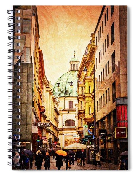 A Rainy Day In Vienna Spiral Notebook