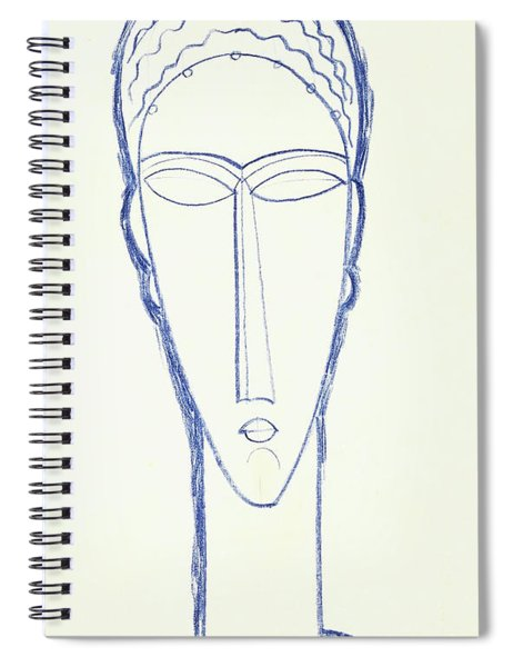 Study For A Head For A Sculpture Spiral Notebook by Amedeo Modigliani