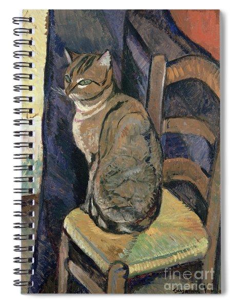 Study Of A Cat Spiral Notebook