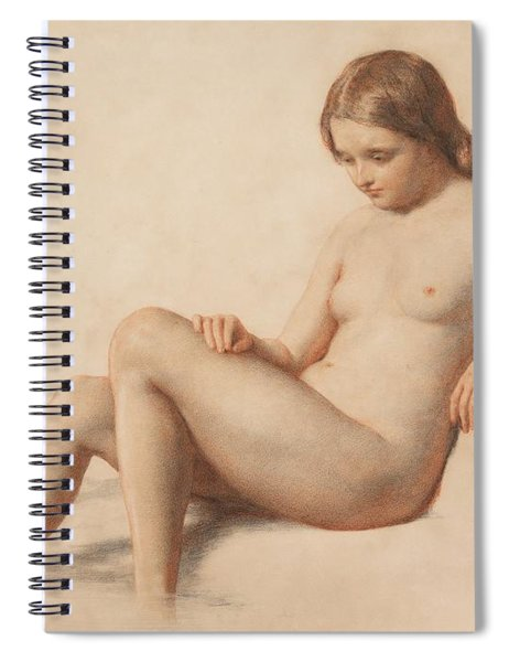 Study Of A Nude Spiral Notebook