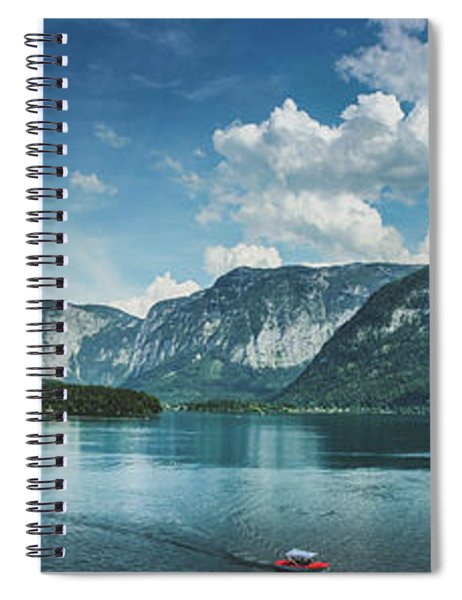 Stunning Lake Hallstatt Panorama Spiral Notebook