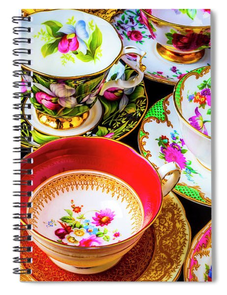 Stunning Tea Cups Spiral Notebook