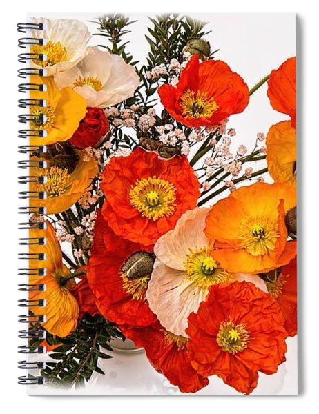 Stunning Vibrant Yellow Orange Poppies  Spiral Notebook